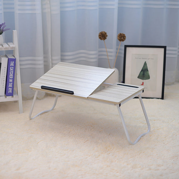 Folding Laptop Desk for Bed with Slot, 31 inches