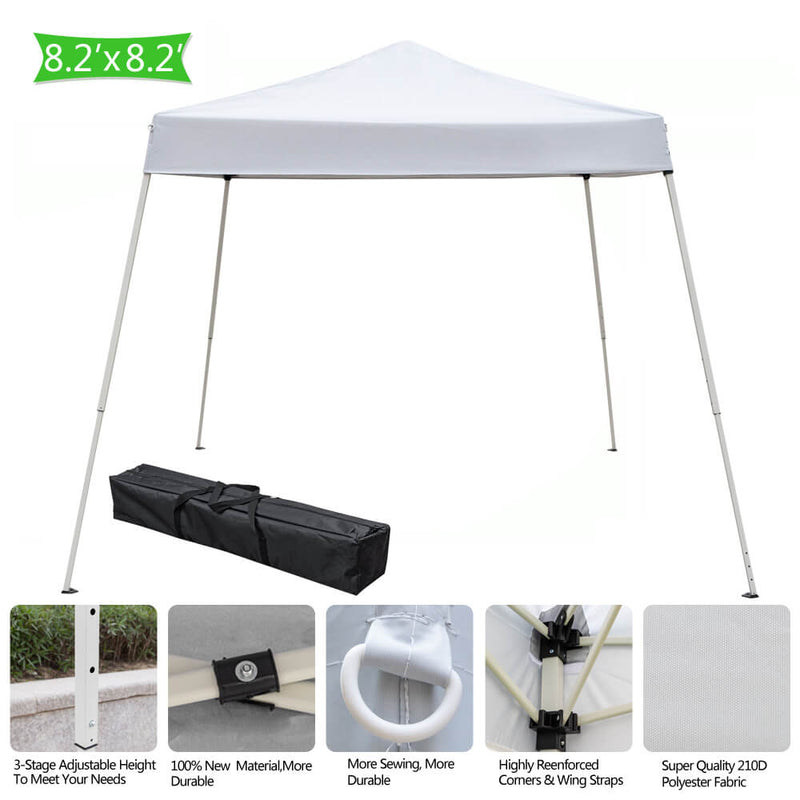 10 x 10 ft Portable Home Use Waterproof Folding Tent White