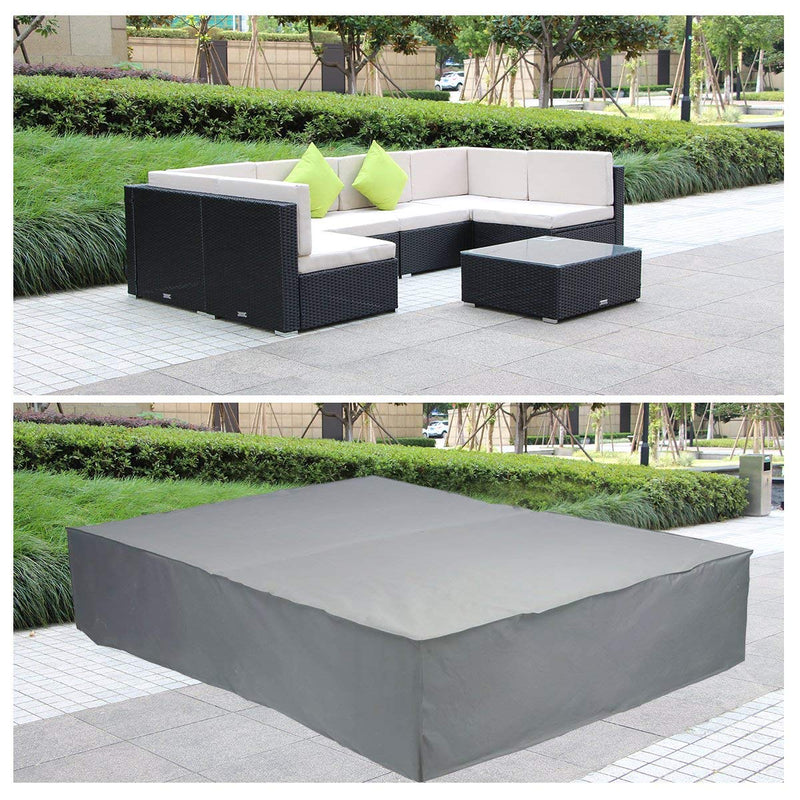 Patio Furniture Covers Extra Large Rectangular Table Cover for Outdoor 7 Pcs Furniture Set