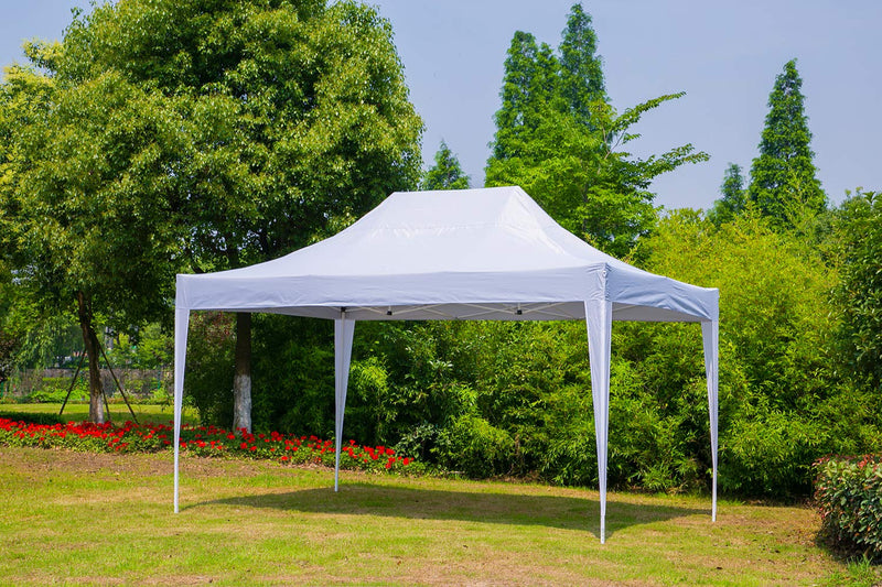 Outdoor Pop up Canopy Party Tent Gazebos Shelters 10x15 ft White