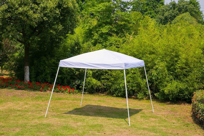 10' x 10' Outdoor Canopy Party Tent, Portable Sun Shelter Folding Canopy, White