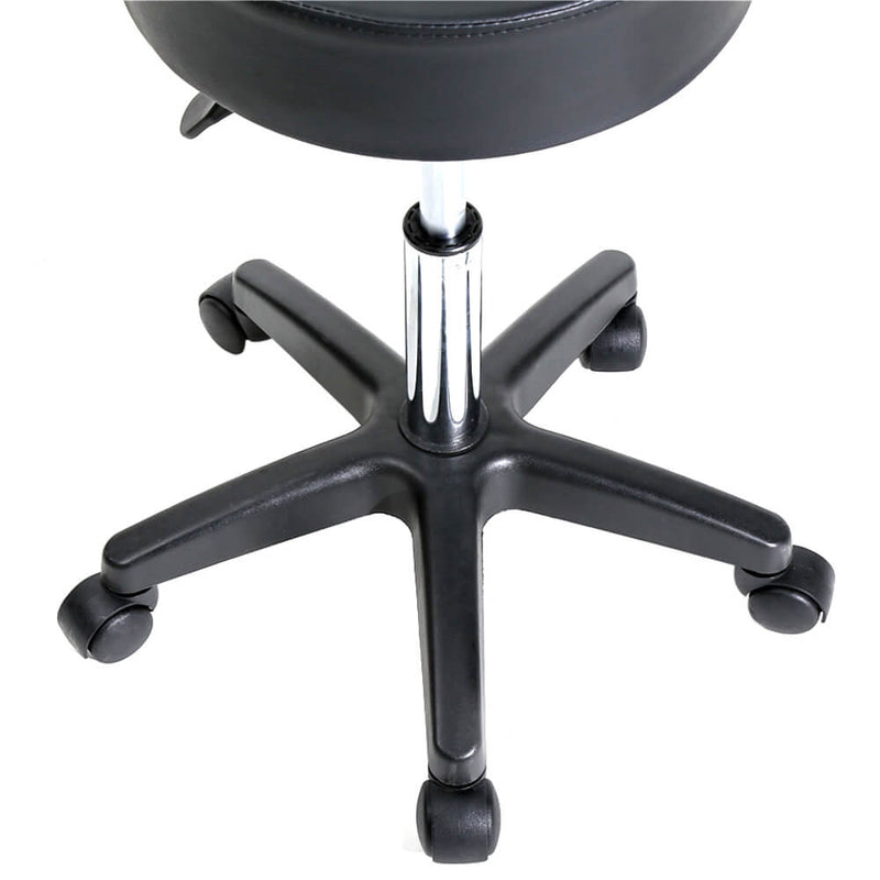Round Stool Plastic Arch Feet Rotation Black