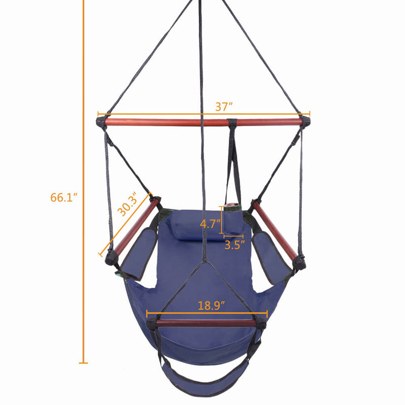 Well-equipped S-shaped Hook High Strength Assembled Hanging Seat Blue