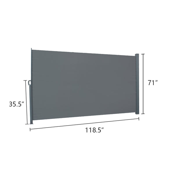 118.5 x 71 inches Outdoor Aluminum Handle Office Partition Windshield Isolation Canopy