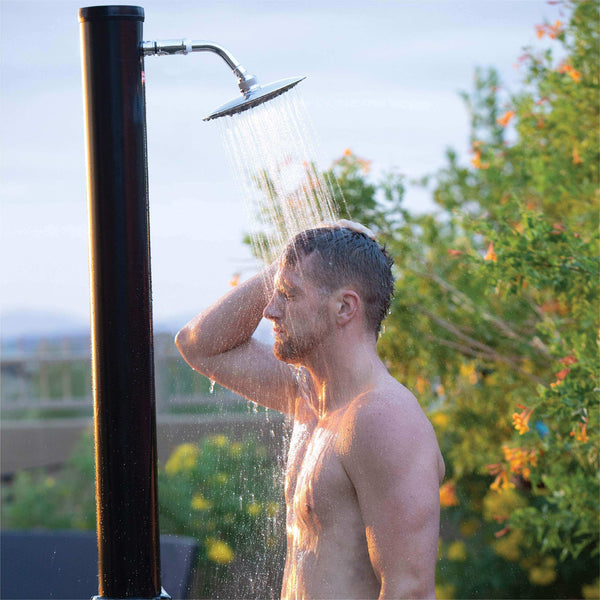 Outdoor Solar Showers with Shower Head and Faucet 9.3 gal 2 pcs