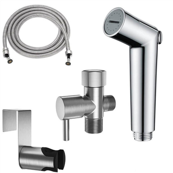 Brushed Nickel Pet Shower Sprayer Solid Brass Shower Arm for Toilet