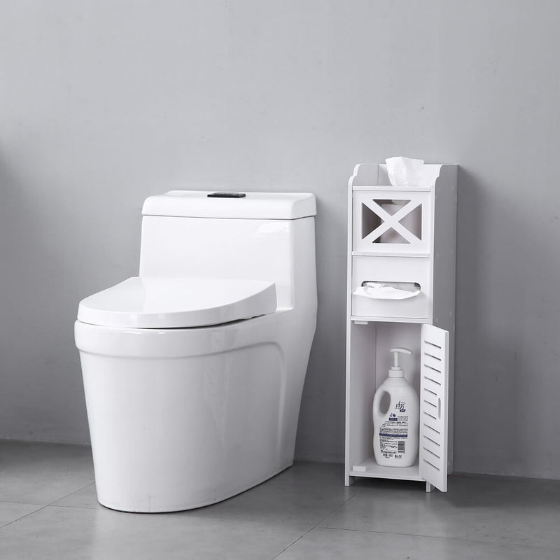 Narrow Cabinet for Pvc Toilet Cross Tissues Two Tissue Storages