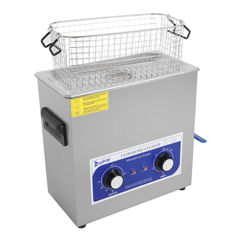 6L Commercial Ultrasonic Cleaner Large Capacity Stainless Steel with Heater and Digital Timer