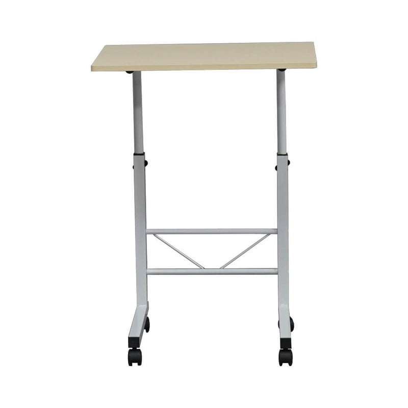 Portable Side Office Table C Shaped Wood S