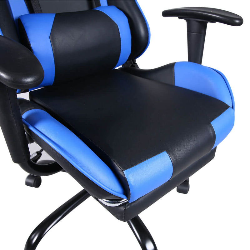 High Back Swivel Chair Racing Gaming Chair Office Chair Blue