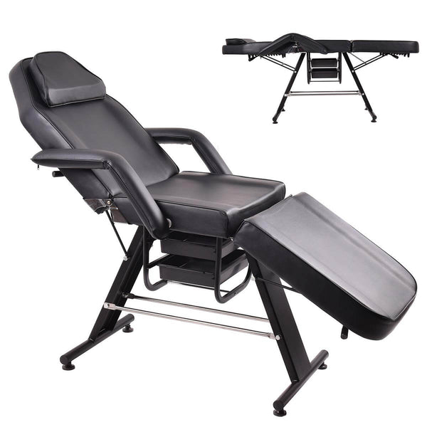 70-inch Adjustable Massage Table Bed Chair Couch for Salon Beauty Physiotherapy Facial SPA Tattoo
