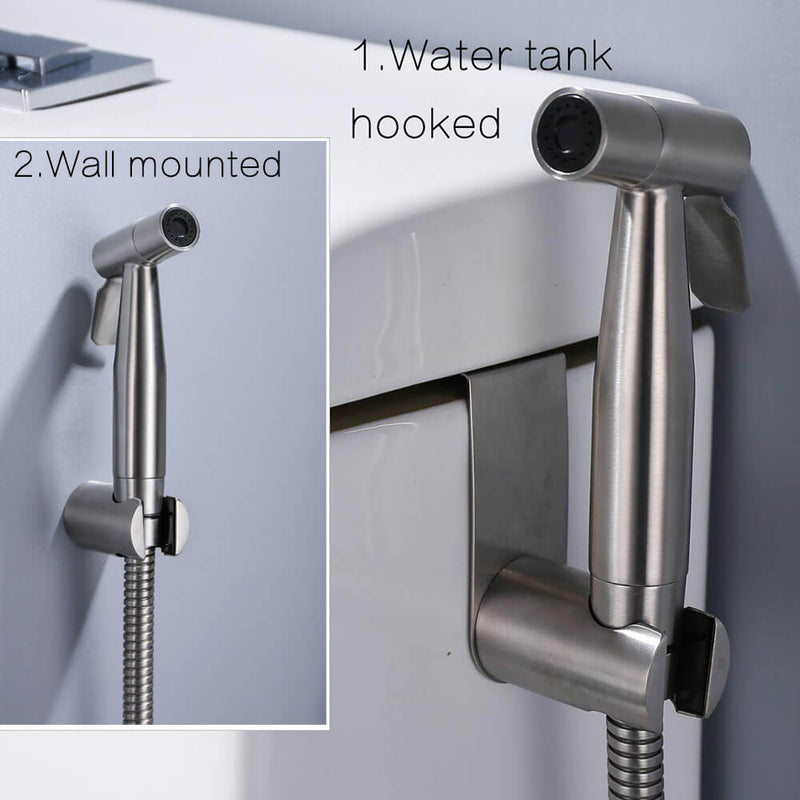 Handheld Toilet Bidet Sprayer Set Kit Stainless Steel Hand Bidet Faucet