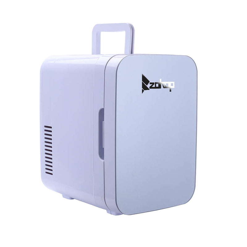 6L Electric Mini Refrigerator, Portable Electric Cooler & Warmer with Handle, Compact Car Refrigerator Cooler, Gray