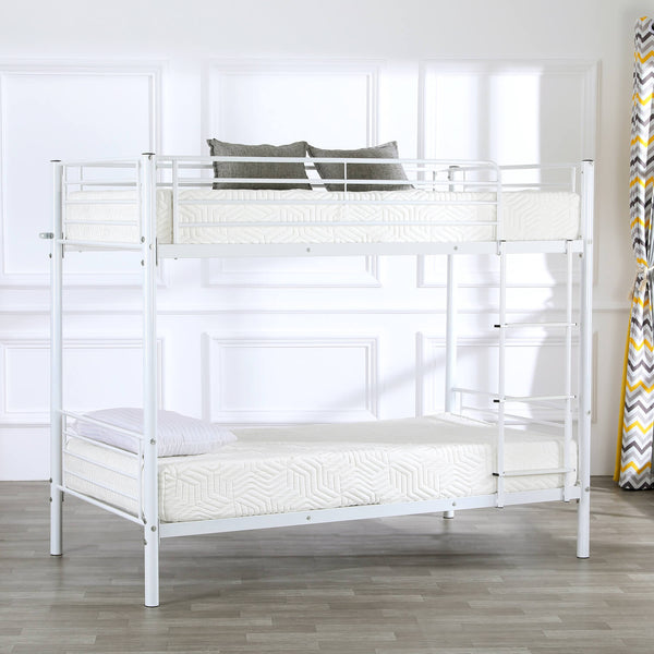 Bunk Bed with Ladder for Kids Twin Size Black