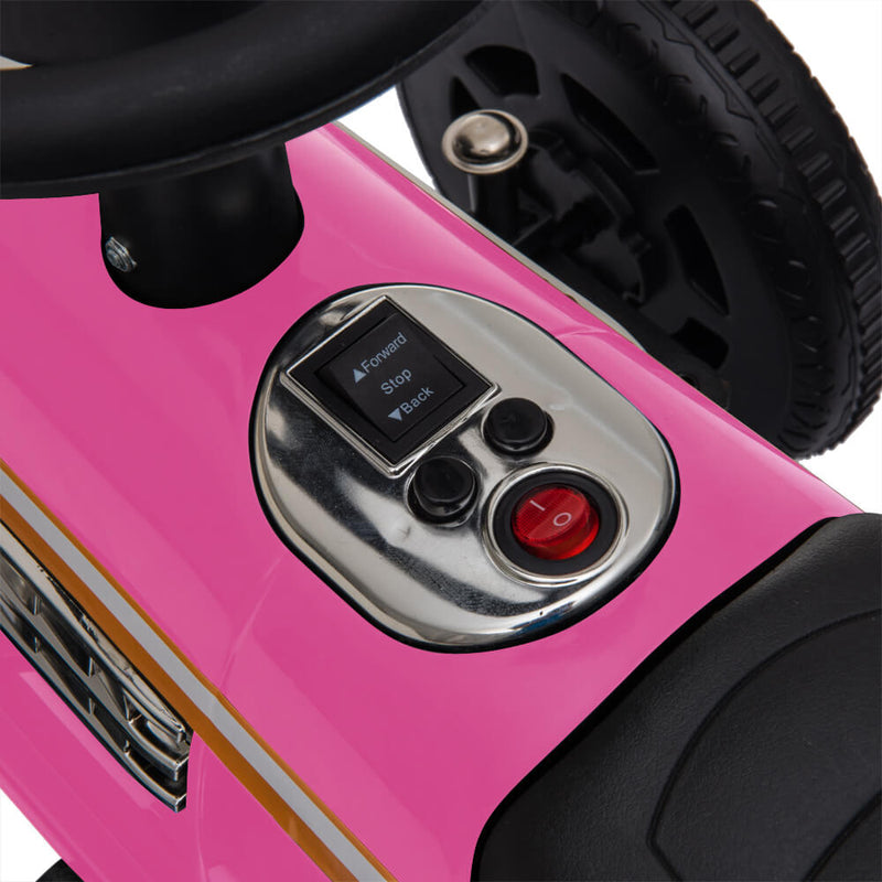 Kids Ride On Powered Motorcycle Ride On Toy With Music Player LED Lights 6V Pink