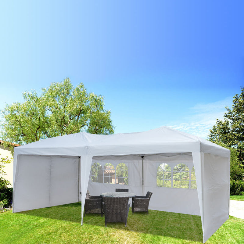 Waterproof Folding Canopy Tent with Two Windows White 10*20FT
