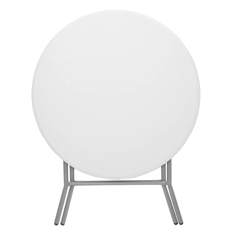 32 inches Round Folding Table Outdoor Folding Utility Table White