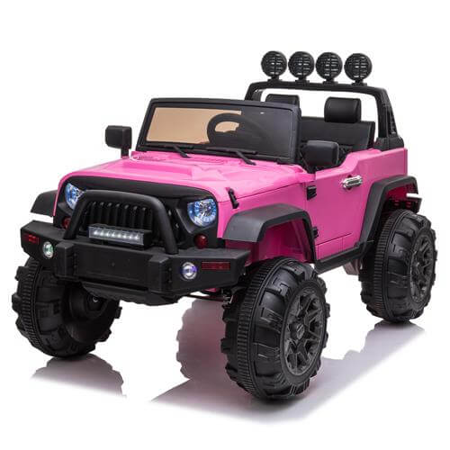 Kid Ride On Car Truck SUV With Parental Remote Control Pink