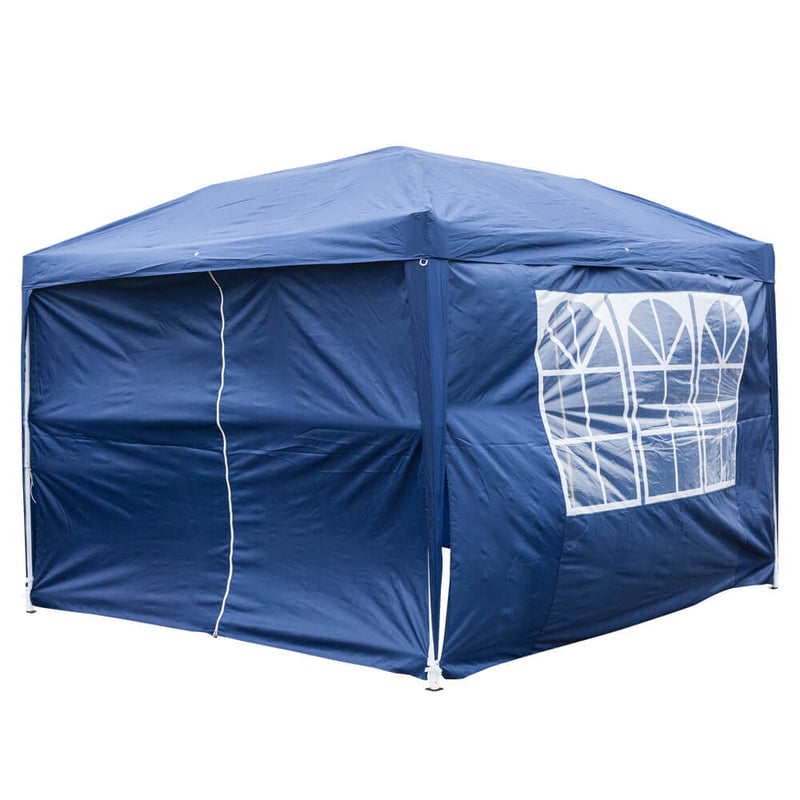Homhum Waterproof Canopy Tent 10 x 10 ft Foldable Commercial Instant Tents with Carry Bag Blue