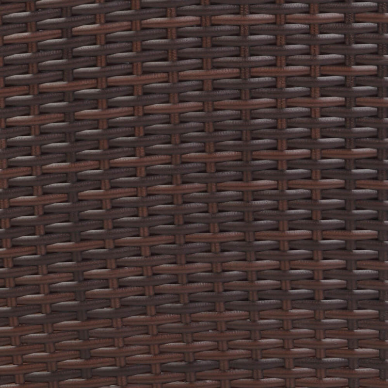 6 Pieces Rattan Chair Set Patio Dining Set Brown