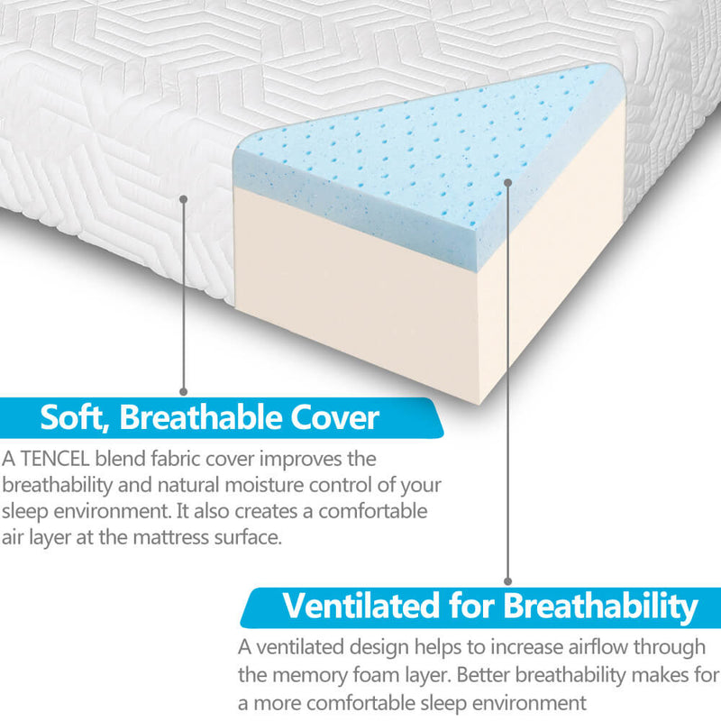 Two Layers Firm High Softness Cotton Mattress Twin Size