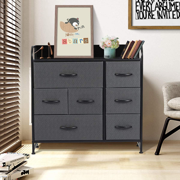 Dresser for Bedroom with 7 Drawers, Fabric Dresser Tower for Closets, Bedroom