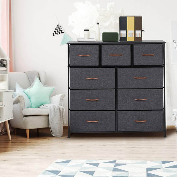 Dresser for Bedroom with 9 Drawers, Fabric Dresser Tower for Closets,Bedroom
