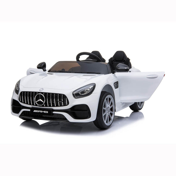 BENZ GT Ride On Car Dual Drive Remote Control White