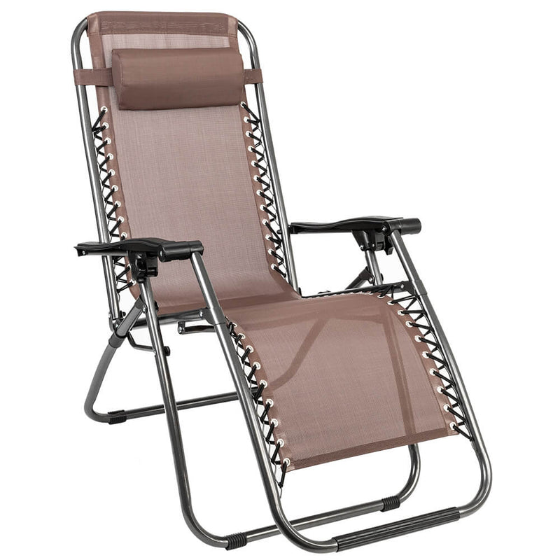 Lock Portable Folding Chairs Brown