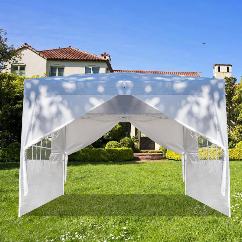 Waterproof Folding Canopy Tent with Two Doors & Two Windows 10 x 10 ft