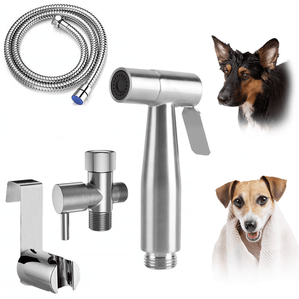 Hand Held Bidet Sprayer for Toilet for Pet Wash Baby Diaper Cloth Stainless Steel