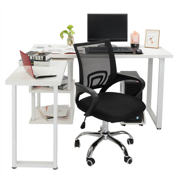 Mesh Back Gas Lift Adjustable Office Swivel Chair Black