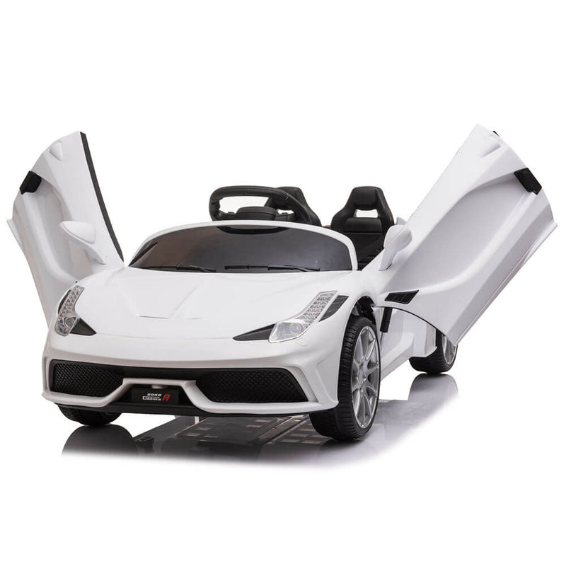 Kids Electric Ride On Car with Remote Control White