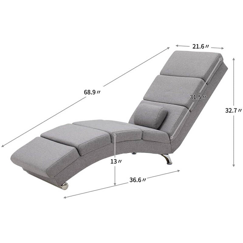 Electric Massage Recliner Chair, Ergonomic Chaise Lounge Massage Recliner, Grey