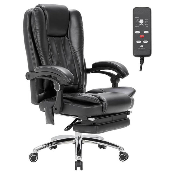 Massage Office Chair Ergonomic Computer Chair with kneading Massage and Vibration Massage, Lumbar Support