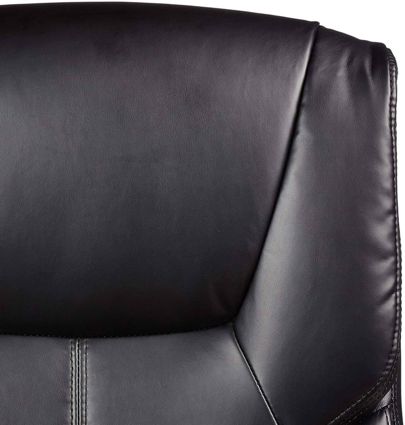 Adjustable Office Chair High-Back, Leather Chair, Swivel, Black