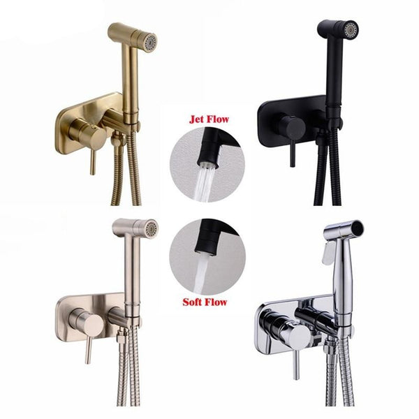 Brass Toilet Bidet Spray Handheld Bidet Diaper Set Bathroom Shower Set