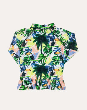 Toucan-can Sea & Snow Frill Rash Top