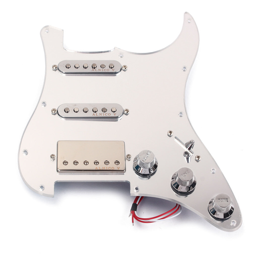 Mirror Surface 3-ply Prewired Pickguard Guard