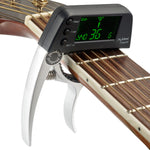 Aluminum Alloy 2-in-1 Guitar Capo Tuner with LCD Screen