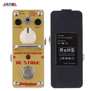 AROMA AAS-3 AC Stage Acoustic Guitar Simulator Effects Pedal