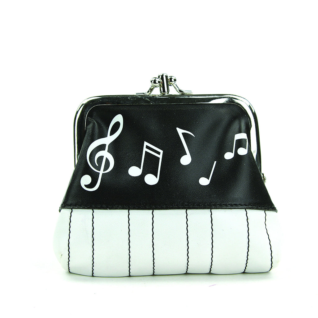 Musical Notes Coin Purse in Vinyl