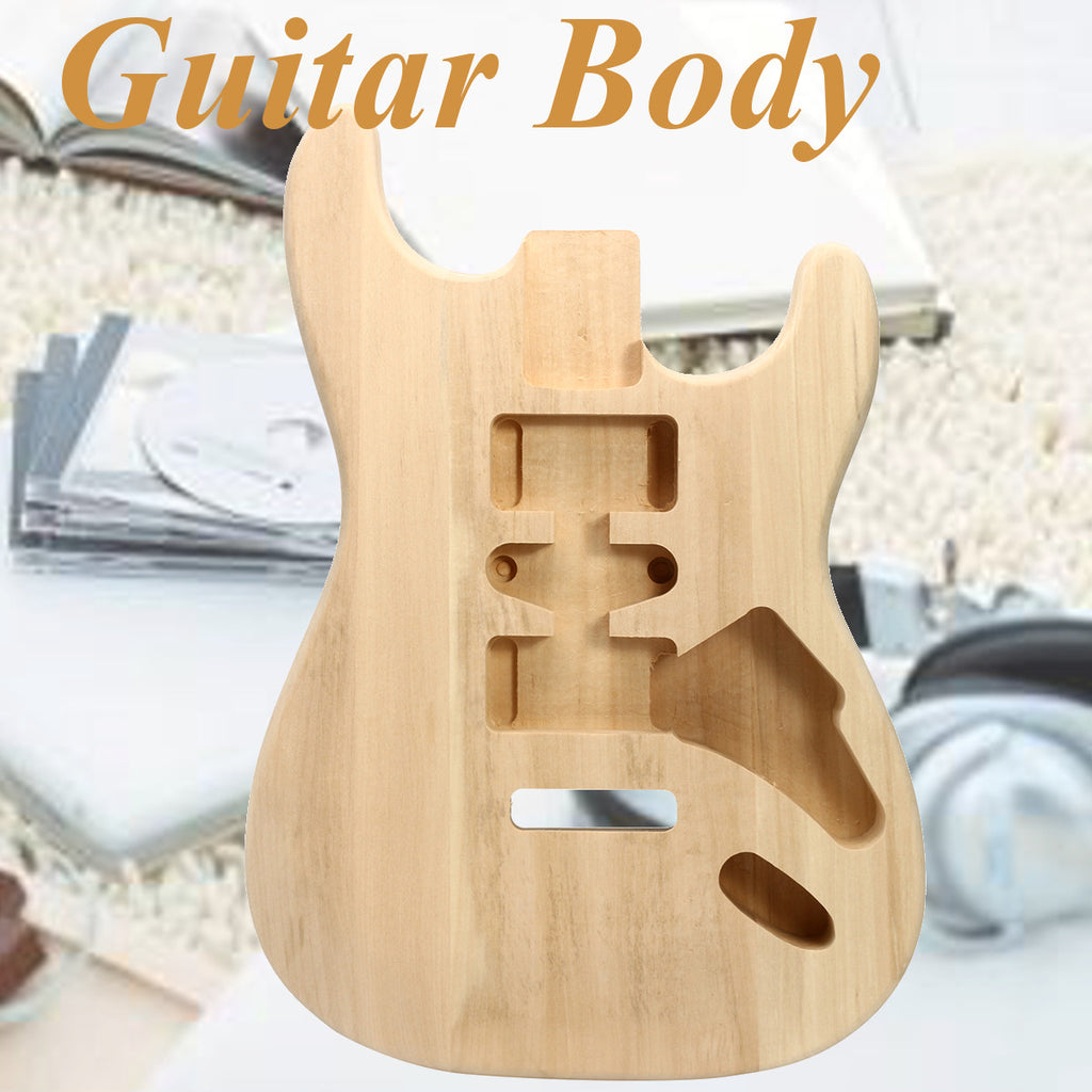 DIY Unfinished Fender ST Style Electric Guitar Body