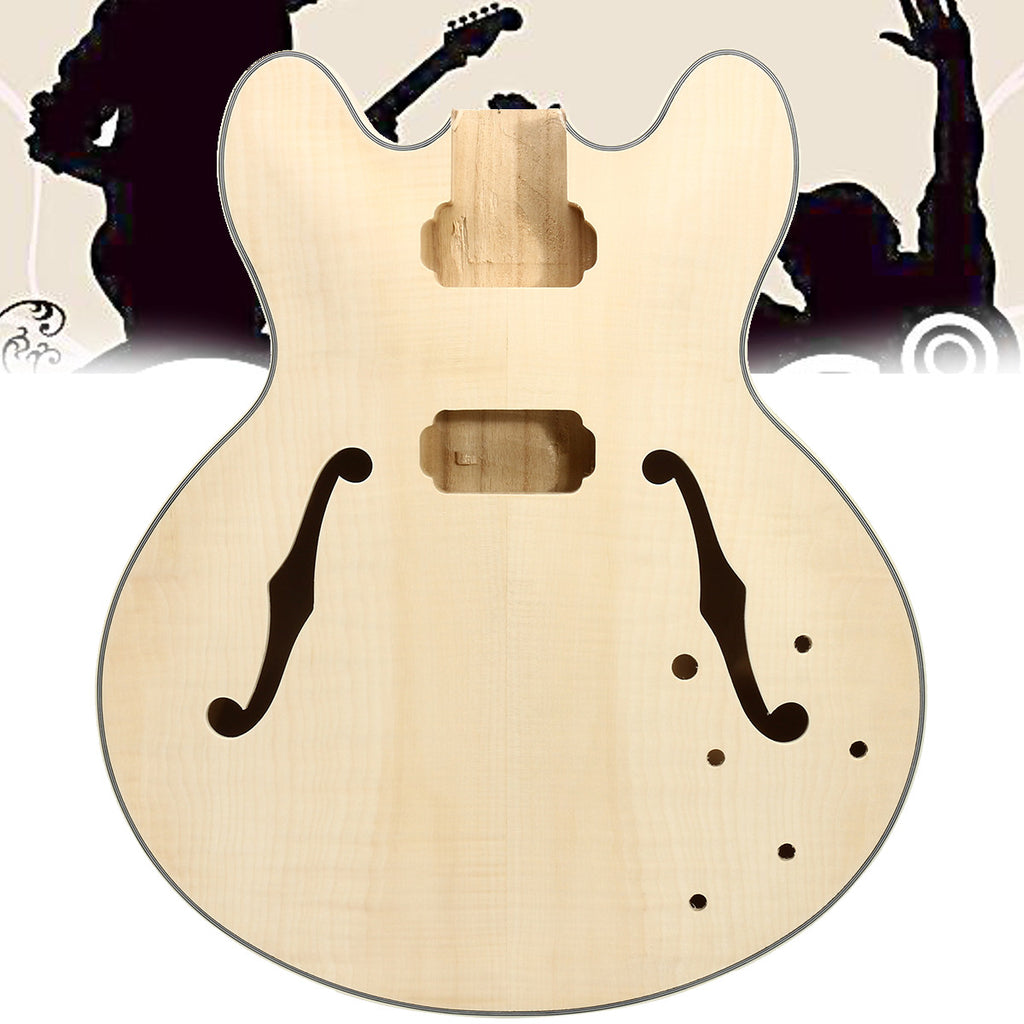 Unfinished DIY Electric Guitar Body For ES335 Electric Guitar