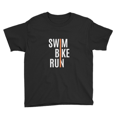 Youth Short Sleeve T-Shirt - Swim-Bike-Run Design