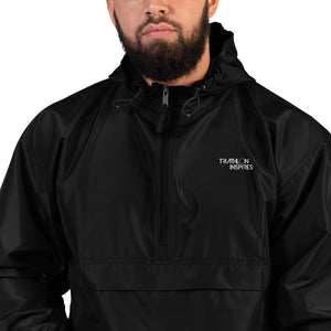 TEST Embroidered Champion Packable Jacket 2.5 TEST Triathlon Inspires Store Black S