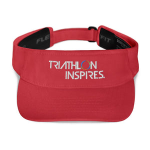Triathlon Inspires® Visor Triathlon Inspires Store Red