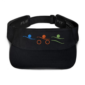 Visor - Tri-Icons Colors Design Triathlon Inspires Store Black
