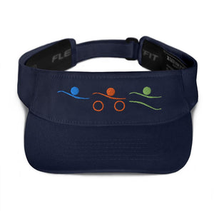 Visor - Tri-Icons Colors Design Triathlon Inspires Store Navy