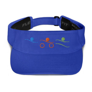 Visor - Tri-Icons Colors Design Triathlon Inspires Store Royal